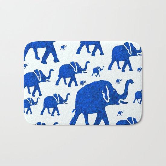ELEPHANT BLUE MARCH Bath Mat