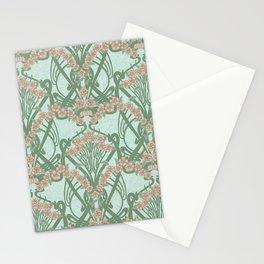 Art Nouveau Spring Garland Stationery Cards