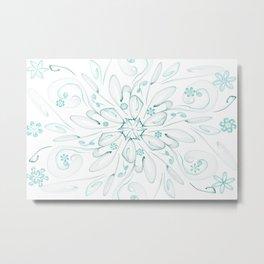 Blue flower frac Metal Print