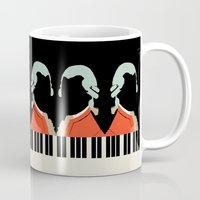 mozart Mugs featuring Mozart  by Prelude Posters