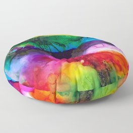 Wild Rainbows Floor Pillow