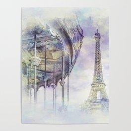 Typical Paris | watercolor Poster