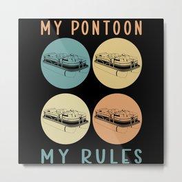 Pontoon Boat Captain | Boat Owner Pontoon Metal Print