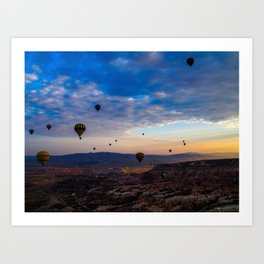 Balloons on Cappadocia sunrise Art Print