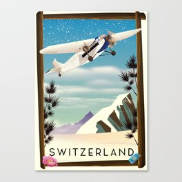 Switzerland travel poster Canvas Print