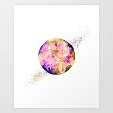 Flower planet Art Print