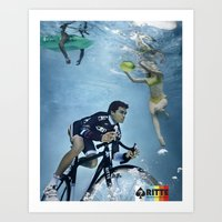 Ritte Unsuspecting Swimmers Art Print
