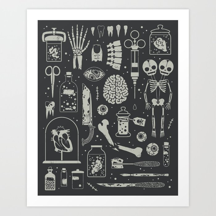 Oddities: X-ray Art Print