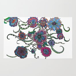 Chaotic Blooms Rug