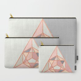 Rose Gold Geometry Carry-All Pouch