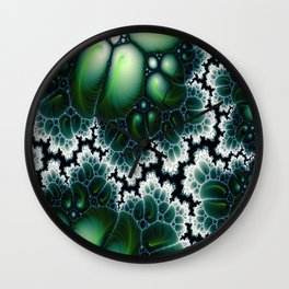 Featherscape Fractal Wall Clock