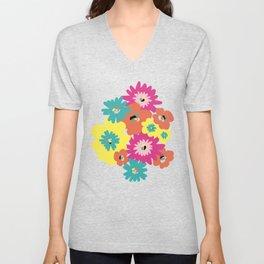 Late spring flowers Unisex V-Neck