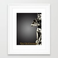 c3po Framed Art Prints featuring C3PO by KL Design Solutions