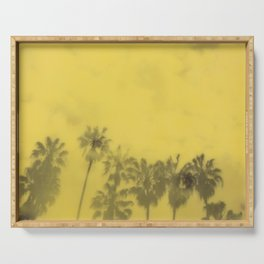 Yellow Palms Serving Tray