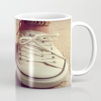 converse Mugs featuring Converse by M O L L Y J A N E