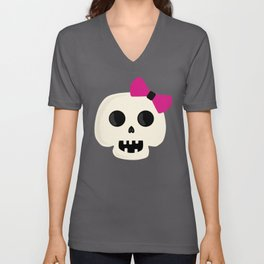 Skully Girl Unisex V-Neck