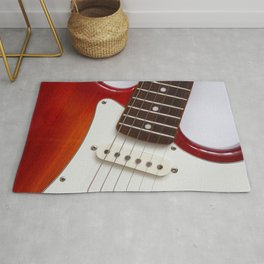 red electric guitar Rug