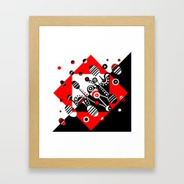 MICROGRAVITY - RED & BLACK Framed Art Print
