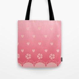 Sakura Polkalove Tote Bag