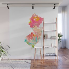 new jersey floral state map Wall Mural