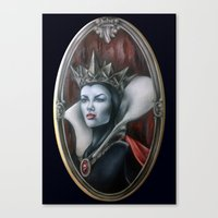 evil queen Canvas Prints featuring Evil Queen by Yehsiming Jue
