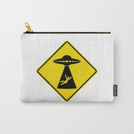 Alien Abduction Safety Warning Sign Carry-All Pouch