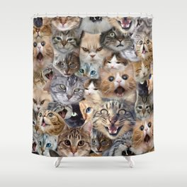 Many expressions of Cats Shower Curtain