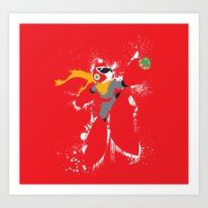 Protoman Splattery Design Art Print
