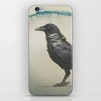 band iPhone & iPod Skins featuring Raven Band by Vin Zzep