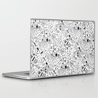 seinfeld Laptop & iPad Skins featuring Seinfeld Pattern (White Background) by Jamie Leonard