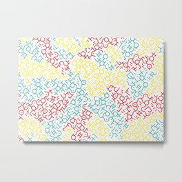 Contemporary Street Art Keith Haring Pattern Geometric Color #1W Metal Print