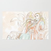 hobbit Area & Throw Rugs featuring Thranduil_The Hobbit by JoySlash