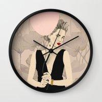 dragon ball Wall Clocks featuring Ball by Magdalena Pankiewicz