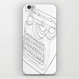 Earnest's typwriter iPhone Skin