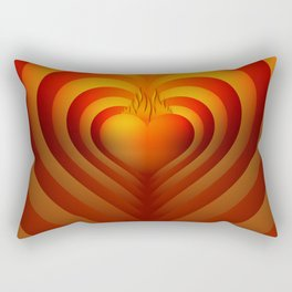 Heart in flames, reflected heart, lovely and vibrant heart. Rectangular Pillow