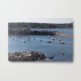 New England Coastal Town Metal Print