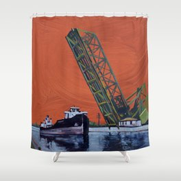 Gauron Jackknife Bridge Shower Curtain