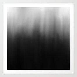 charcoal ombre Art Print