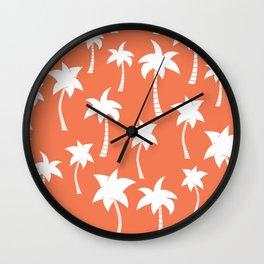 Tree Coconut pattern  Wall Clock