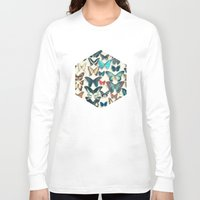 wings Long Sleeve T-shirts featuring Wings by Cassia Beck