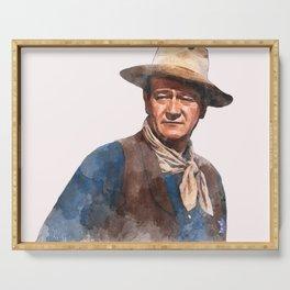 John Wayne - The Duke - Watercolor Serving Tray