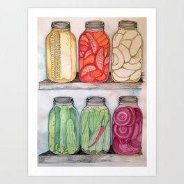 Mason Jars Art Print