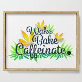 Wake Bake Caffeinate Serving Tray