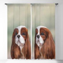 Drawing Dog Cavalier King Charles Spaniel Blackout Curtain