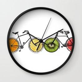 Fruity bikes Wall Clock