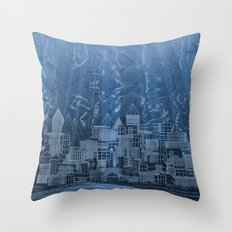 Submerged City Throw Pillow