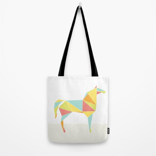 Origami Horse by Friztin Tote Bag