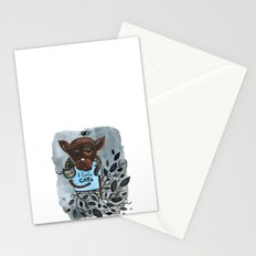 Mr. Boxer is in love with Cats Stationery Cards