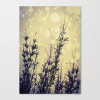 fireflies Canvas Prints featuring Fireflies by Kanelov