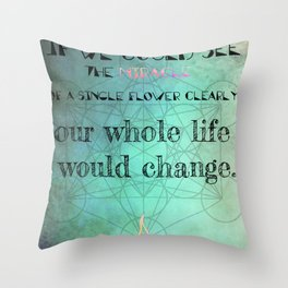 Zen Art Inspirational Buddha Quotes  Throw Pillow
